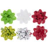 """Red, White & Green Bows - 3"""""""