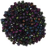Black & Neon Alphabet Beads