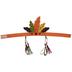 Orange, Green & Brown Feather Headband