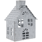 House Galvanized Metal Candle Holder