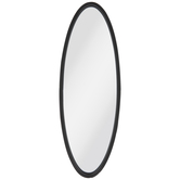 Black Oval Metal Wall Mirror