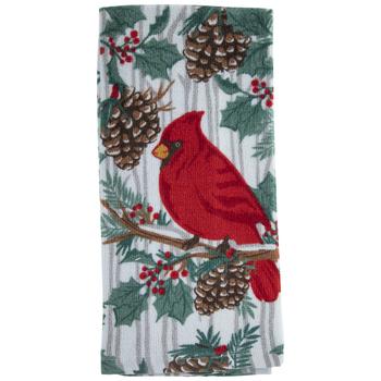 Cardinal & Pinecone Kitchen Towel