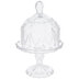 Scalloped & Embossed Glass Cupcake Stand - Small