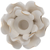 Cream Flower Candle Holder
