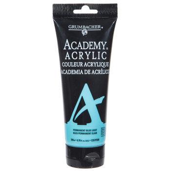 Permanent Light Blue Grumbacher Academy Acrylic Paint - 6.76 Ounce