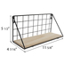 Black Wire Metal Wall Shelf
