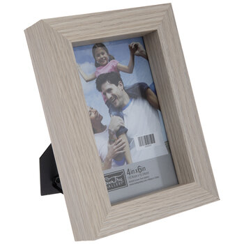 Beige Block Wood Frame