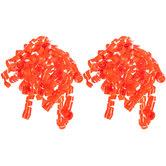 Orange Curly Bows