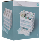 White Four-Tiered Organizer