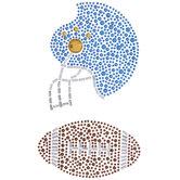 Football & Helmet Rhinestone Stickers