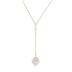 Cultured Pearl Drop Y-Shape Necklace - 16