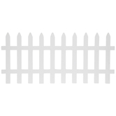 White Picket Fence Wood Shapes