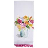 Floral Vase Kitchen Towel