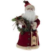 Santa & Wreath Tree Topper