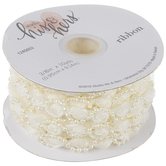 """Rose Trim With Pearls - 3/8"""""""