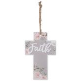 Faith Floral Metal Wall Cross