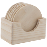 Round Wood Coasters
