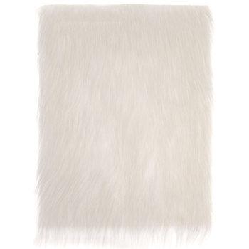 White Long Pile Faux Fur