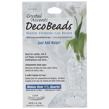 Clear Crystal Accents Deco Beads