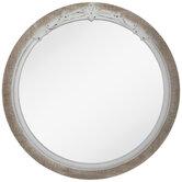 Whitewash Ornate Wood Wall Mirror