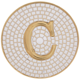 Metallic Gold Letter Coaster - C