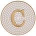 Metallic Gold Letter Coaster - C