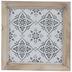 Whitewash Embossed Tile Wood Wall Decor