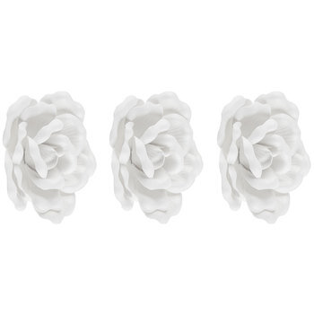 Soft White Flowers 3D Adhesive Wall Art - Large