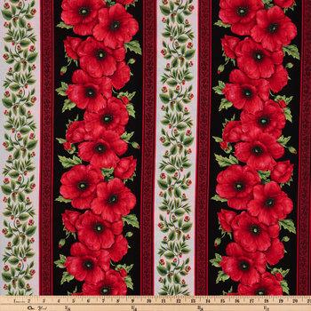 Poppy Striped Cotton Calico Fabric