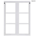 Distressed White Window Frame Wood Wall Decor