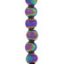 Multi-Color Round Metal Bead Strand