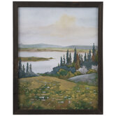 Painted Landscape Wood Wall Decor