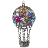 Hot Air Balloon Rhinestone Pendant