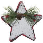 Buffalo Check & Galvanized Star Ornament