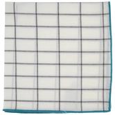 Aqua Trim Windowpane Cloth Napkin