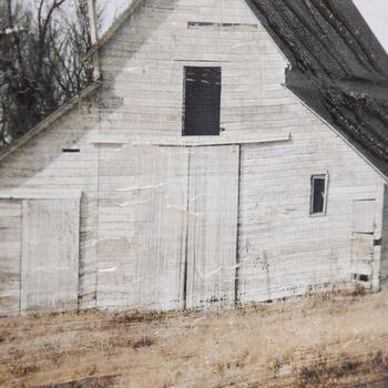 White Barn Canvas Wall Decor