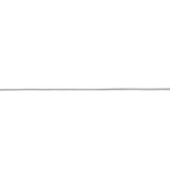 "Silver Rubber Band Ribbon - 1/16"""
