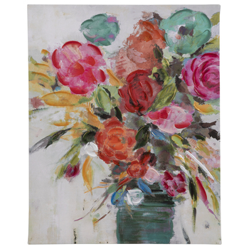 Bight Flowers In Vase Canvas Wall Decor