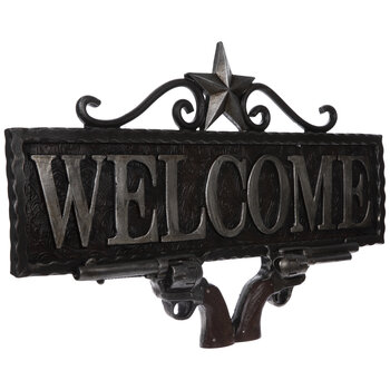 Welcome Revolvers Wall Decor