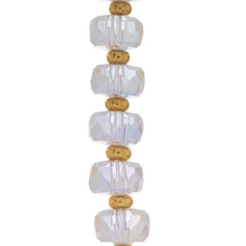 Faceted Glass Bead Strand