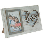 "Love Heart Wood Frame - 4"" x 6"""