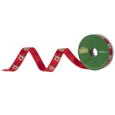 Reindeer Red Satin Single-Face Ribbon - 5/8""