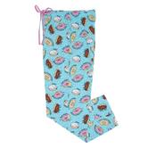 Blue Donut Pajama Pants - Small