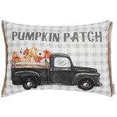 Pumpkin Patch Truck Pillow