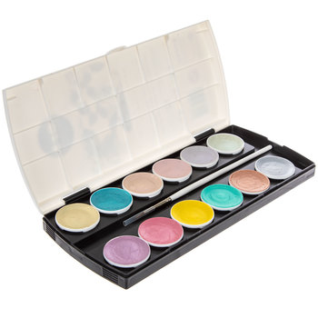 Pastel Metallic Accents Watercolor Palette