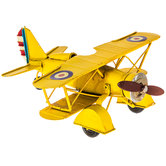 Mini Yellow Metal Biplane