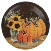 Pumpkin & Sunflower Paper Plates