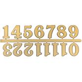 Gold Adhesive Clock Numerals
