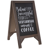 Amount Of Coffee Chalkboard Wood Easel