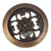 Ornate Cutout Metal Knob